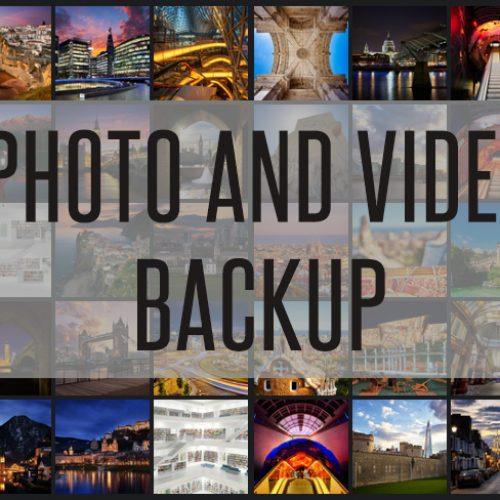 Cópias de Segurança de Fotos e Videos