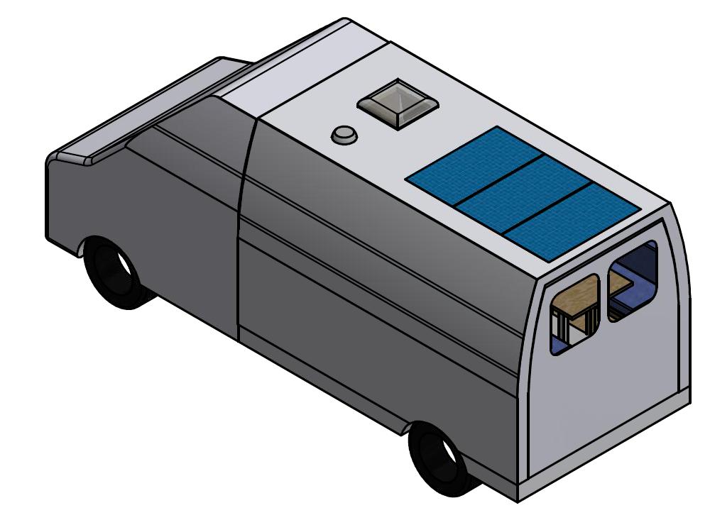 Desenho exterior Autocaravana projecto IMT