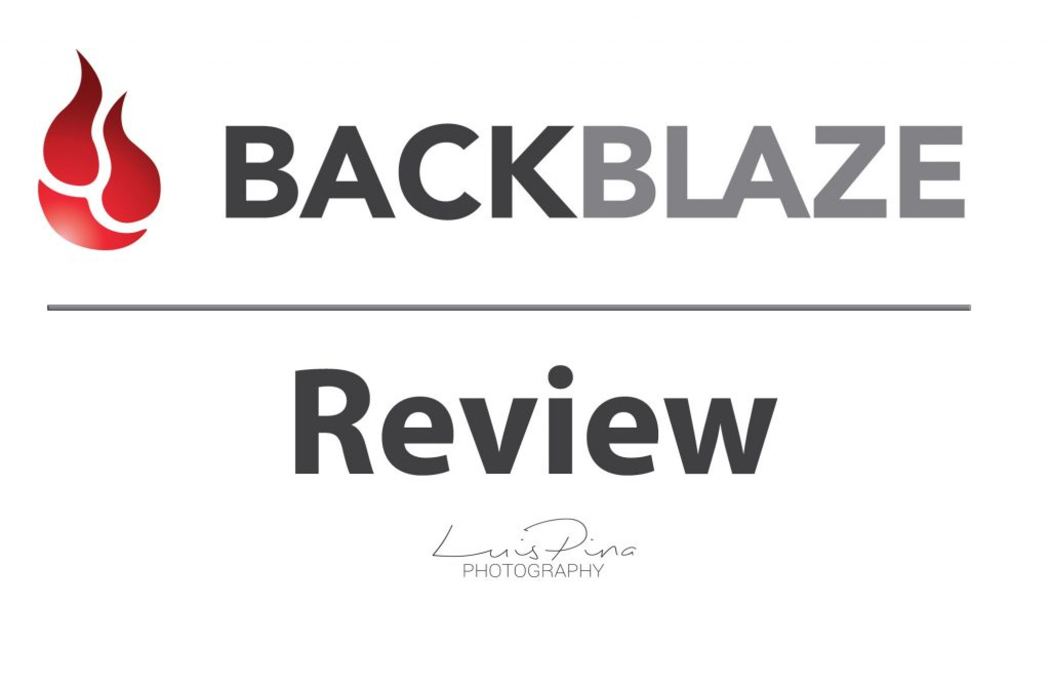 Backblaze Backup Review - Luis Pina Photography